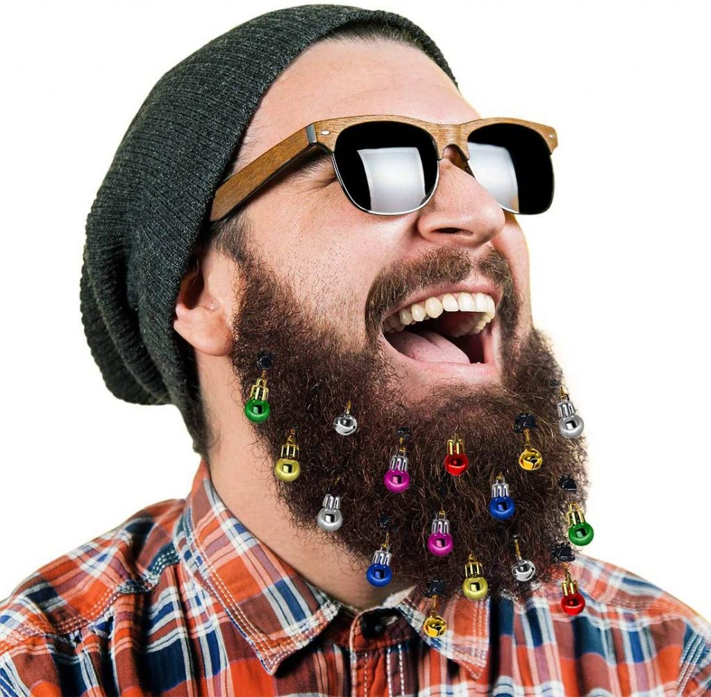 Luces navideñas para barbas